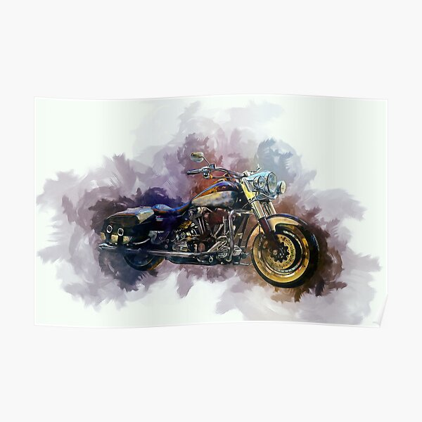 Classic Harley Painting Poster