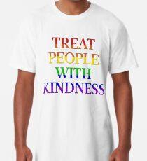 Menschen mit Freundlichkeit behandeln - Stolz Longshirt