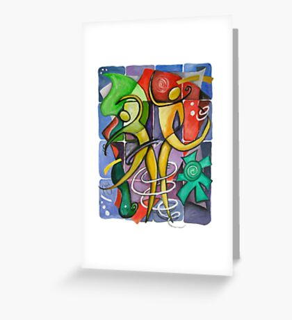 Dancing Figures at Beach Greeting Card