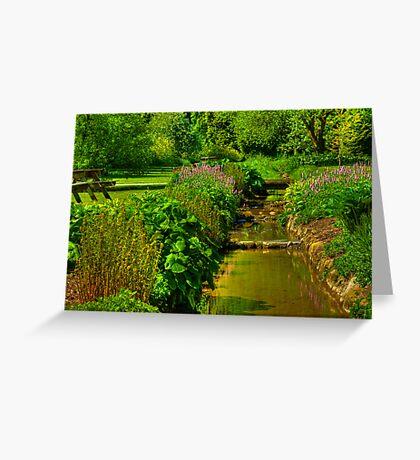 Garden Stream Greeting Card