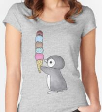 Ice Cream Penguin Women's Fitted Scoop T-Shirt