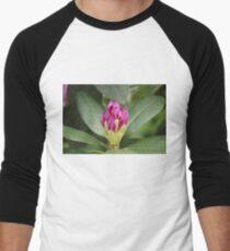 Pink Flower Close Up Men's Baseball ¾ T-Shirt