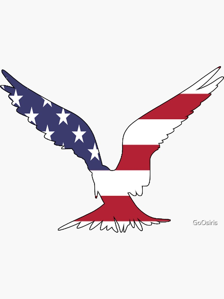 American Flag Eagle Happy 4th of July de GoOsiris