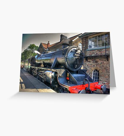 No.45407 'The Lancashire Fusilier' at Grosmont. Greeting Card