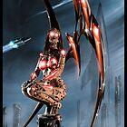 Robot Angel Painting 011 by Ian Sokoliwski