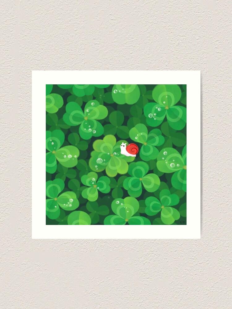 Alternate view of Happy lucky snail Art Print