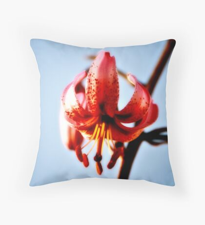 Flower In Light Throw Pillow