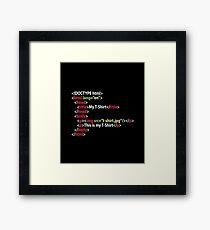 HTML Framed Print