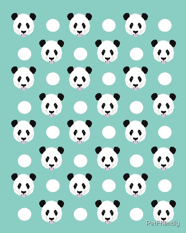 """Panda polka dots pattern print minimal trendy kids design ..."