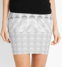 Duafe - Wooden Comb - Adinkra symbol grey touch Mini Skirt