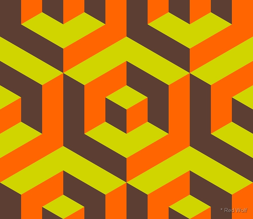 Geometric Pattern: Cube Inset: Moss by * Red Wolf