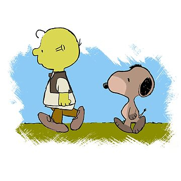 Charlie Brown & Snoopy - Shrek & Donkey by Pixel-Born