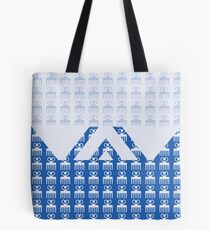 Duafe - Wooden Comb - Adinkra symbol blue touch Tote Bag