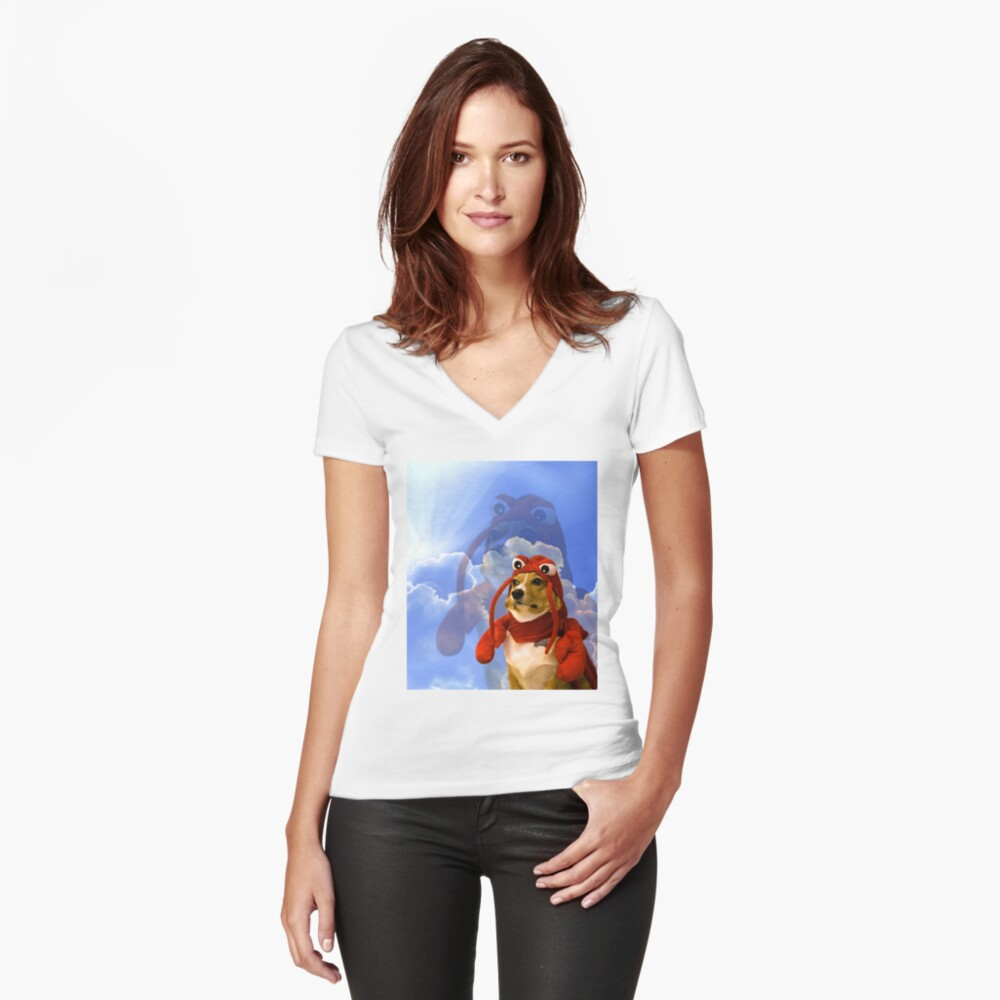 Lobster Corgi, Doggo #1 Fitted V-Neck T-Shirt