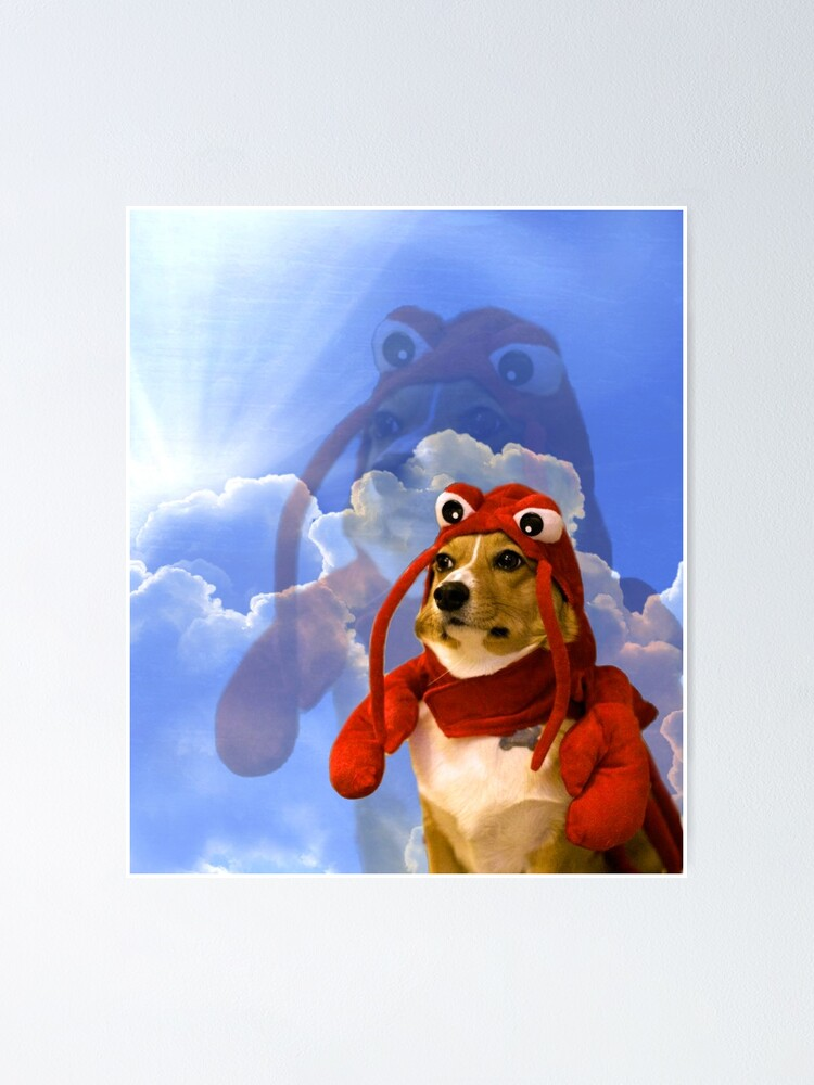 Alternate view of Lobster Corgi, Doggo #1 Poster