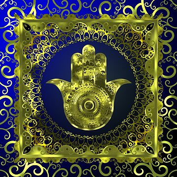 Golden Hamsa by Leodis