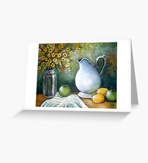 White Pitcher Still Life Greeting Card