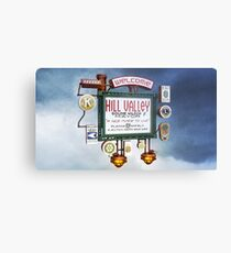 Welcome to Hill Valley - Sky Way Billboard Metal Print