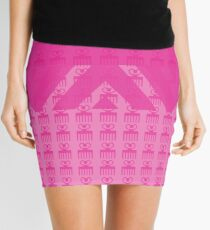 Duafe - Wooden Comb - Adinkra symbol pink touch 2 Mini Skirt