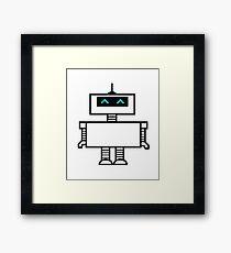 Robot friend Framed Print