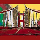 Golden Gate Bridge  (Red Theme) by Joe Lach