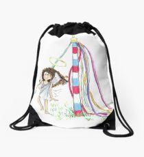 May Day Angel Drawstring Bag