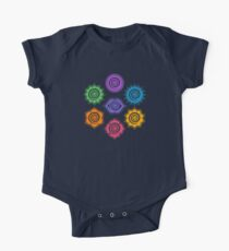 7 Chakras, Cosmic Energy Centers, Evolution, Meditation, Enlightenment One Piece - Short Sleeve