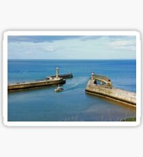 Whitby Piers and harbour Sticker