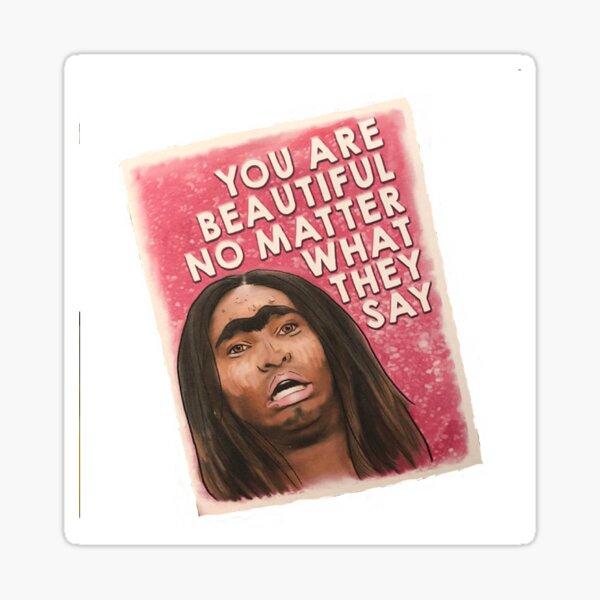 Asia o'hara butterface Sticker