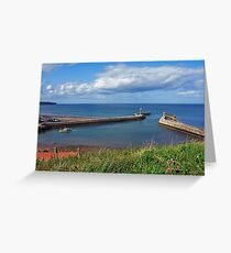 Whitby Piers and harbour Greeting Card