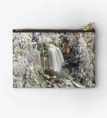 Whitewater Falls in White Studio Pouch