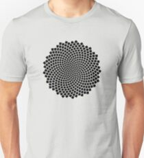 Sunflower Seed Fibonacci Spiral, Golden Ratio, Mathematics, Geometry T-Shirt