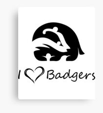 Safe Badgers Canvas Print