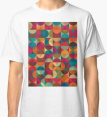 Energy Deco Retro Pattern Classic T-Shirt