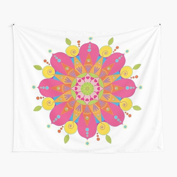 Mandala fleur aux couleurs vives Tentures