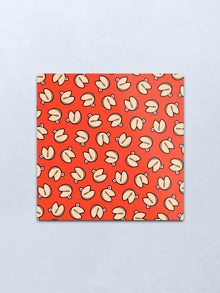 Alternate view of Fortune Cookies Pattern Metal Print