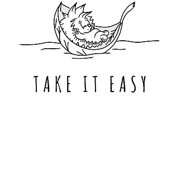 Take it Easy | T-Shirt for Hedgehog Lovers | Perfect as a Gift  by regedy1