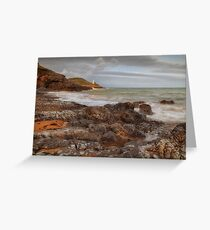 Bracelet Bay and Mumbles lighthouse Greeting Card