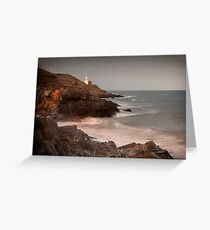 Mumbles lighthouse and Bracelet Bay  Greeting Card