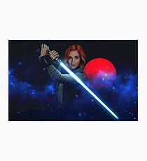 Wynonna Earp - Nicole Haught Jedi ReyHaught May The Force Be With You  Photographic Print