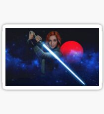 Wynonna Earp - Nicole Haught Jedi ReyHaught May The Force Be With You  Sticker