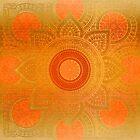 """Savanna Orange-Gold Mandala"" by MarCanton"