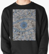 Mankind - Abstract Painting (light blue white design) Pullover