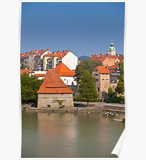 Maribor city view, Slovenia Poster