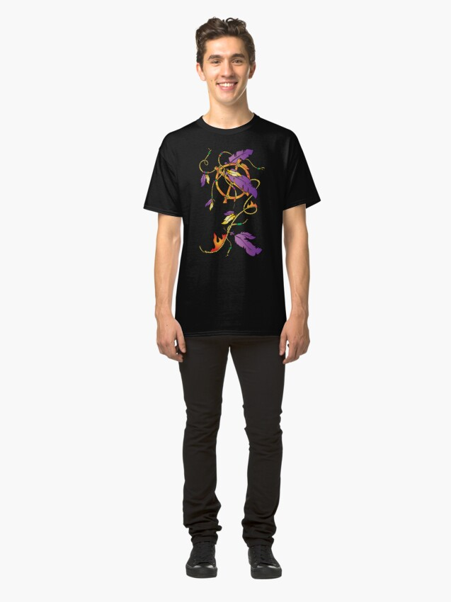 Alternate view of Feather Dream Wheel Classic T-Shirt