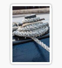 Mooring rope tied around a cleat Sticker