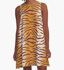LSU Tiger Stripes 2 A-Line Dress