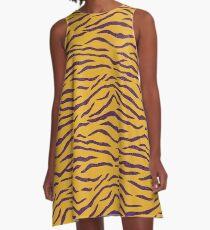 LSU Tiger Stripes 3 A-Line Dress
