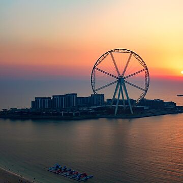 Sunset over the Ain Dubai observation wheel, Dubai, UAE by Photograph2u