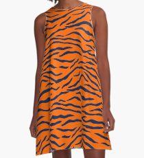 Auburn Tiger Stripes 1 A-Line Dress